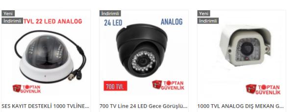 analog güvenlik kamerası